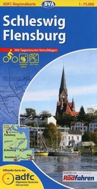ADFC-Regionalkarte Schleswig / Flensburg 1 : 75...