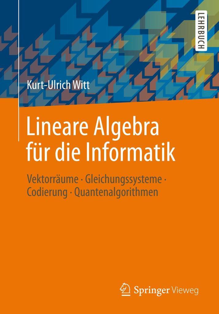 Lineare Algebra für die Informatik als eBook Do...
