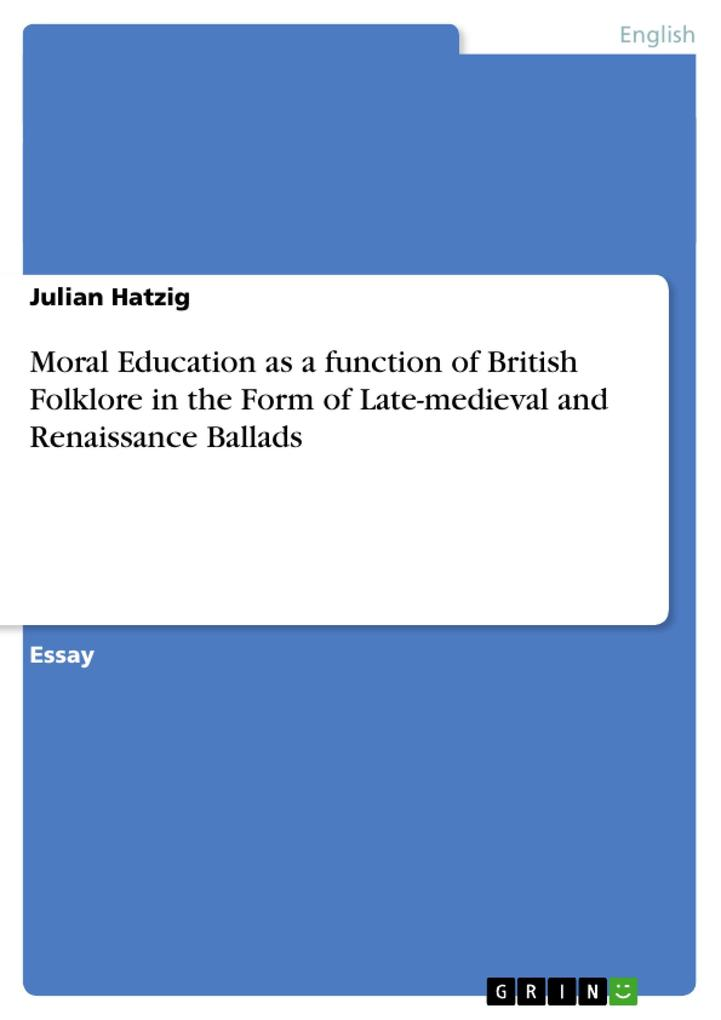 Moral Education as a function of British Folklo...