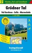 Südtirol 05 Grödner Tal, Val Gardena. Sella, Marmolada 1 : 50 000