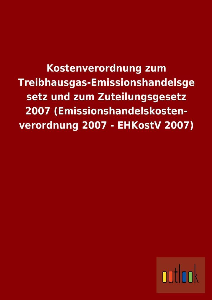 Kostenverordnung zum Treibhausgas-Emissionshand...