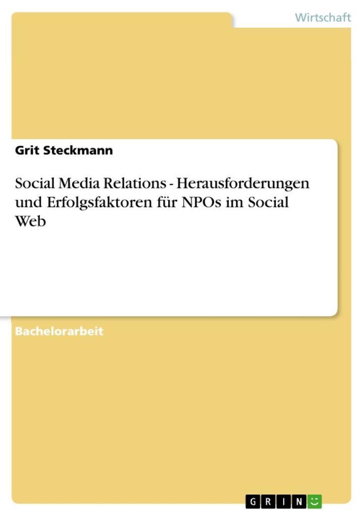 Social Media Relations - Herausforderungen und ...