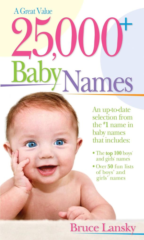 25,000+ Baby Names als eBook Download von Bruce...