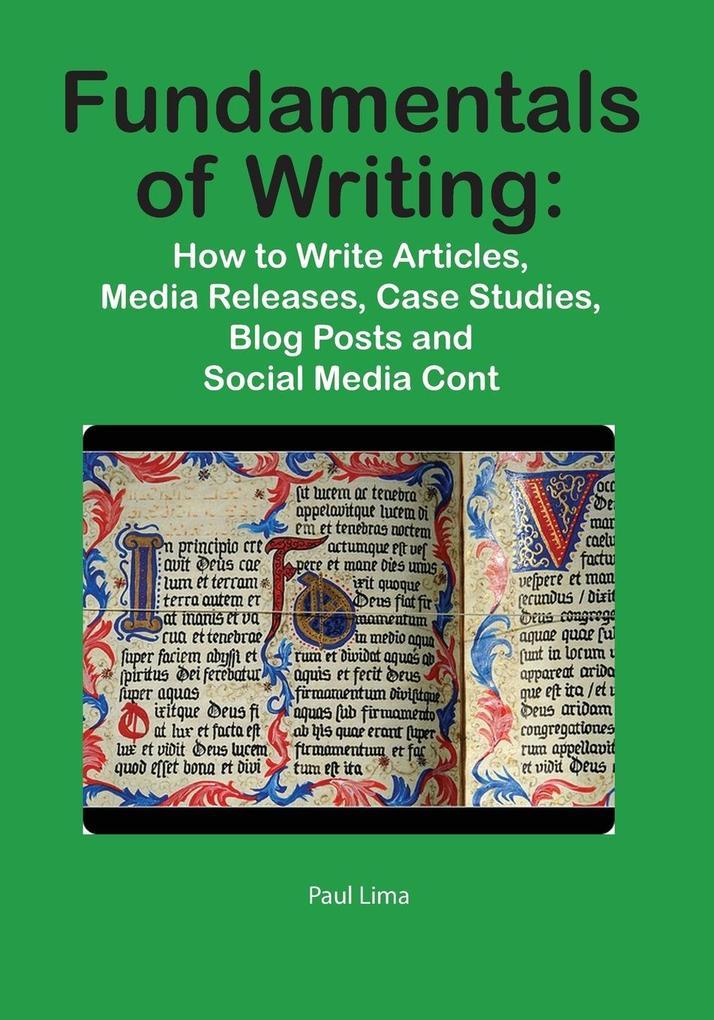 Fundamentals of Writing als Buch von Paul Lima