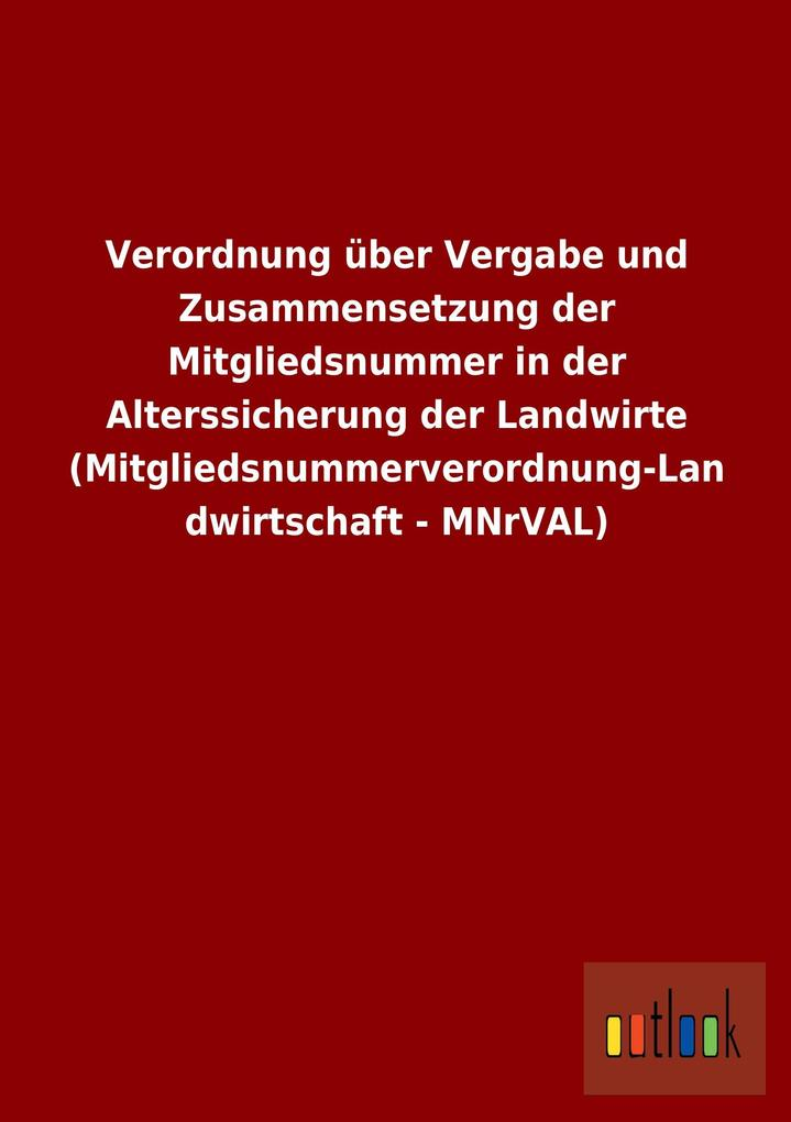 Verordnung über Vergabe und Zusammensetzung der...