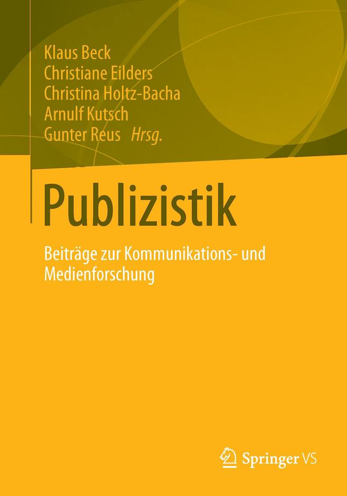 Publizistik als Buch von