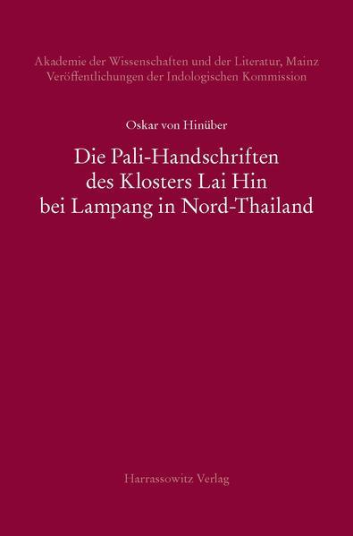 Die Pali-Handschriften des Klosters Lai Hin bei...