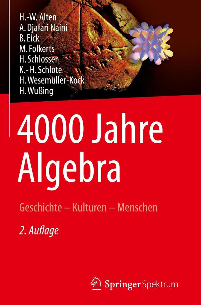 4000 Jahre Algebra als Buch