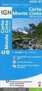 Korsika Corte - Monte Cinto - Parque National de la Corse 1 : 25 000