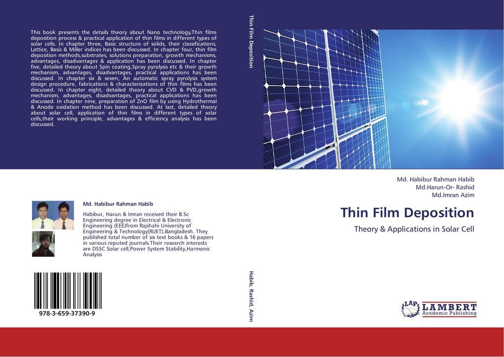 Thin Film Deposition als Buch von Md. Habibur R...