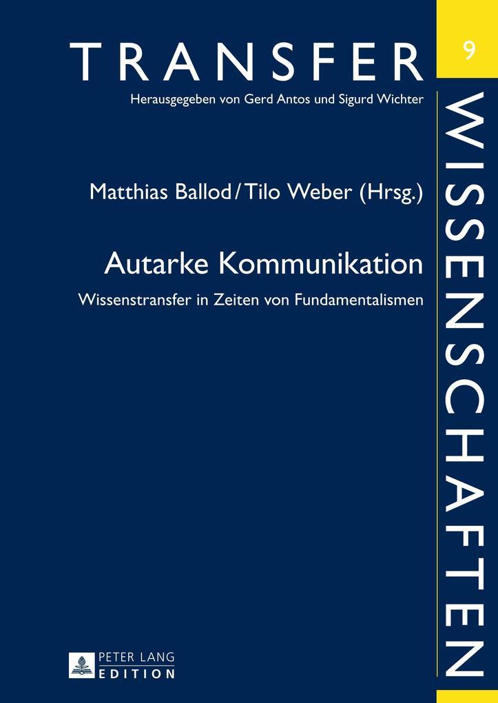 Autarke Kommunikation als Buch von