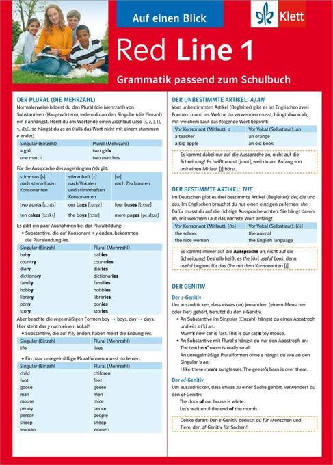 Red Line 1. Auf einen Blick. Grammatik passend zum Schulbuch als Buch