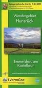 Wandergebiet Hunsrück, Emmelshausen, Kastellaun 1 : 25 000
