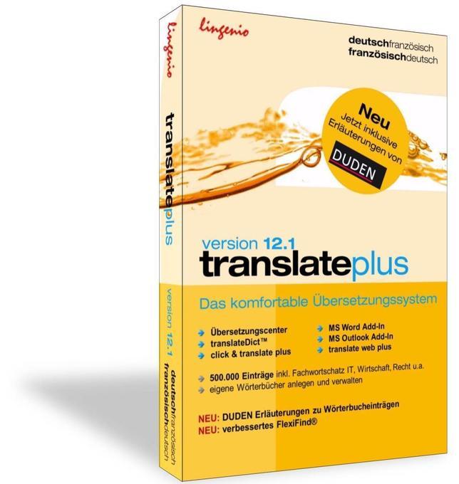 translate plus 12.1 Deutsch-Französisch