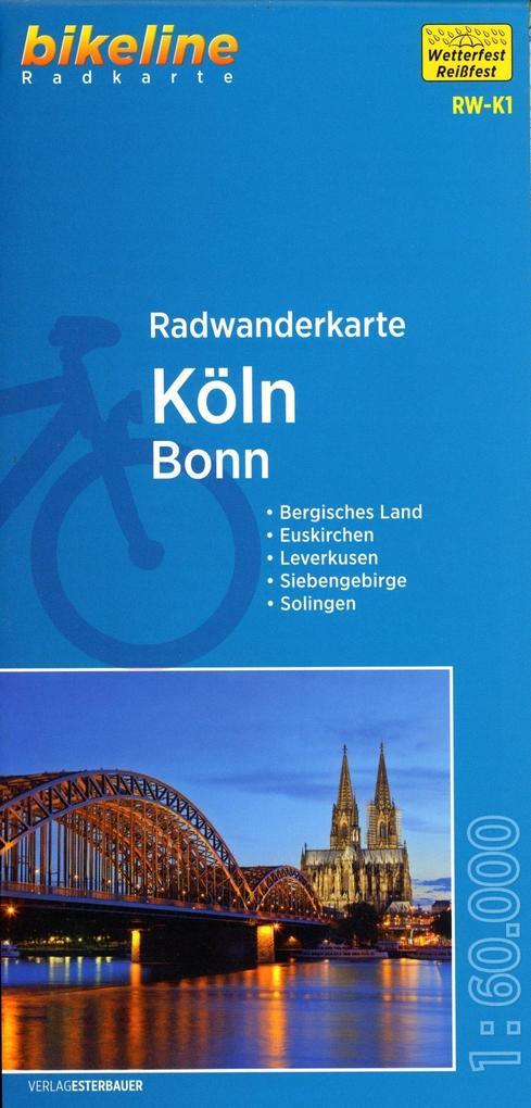 Bikeline Radwanderkarte Köln / Bonn 1 : 60 000 ...
