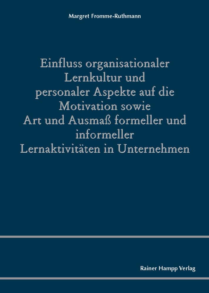 Einfluss organisationaler Lernkultur und person...