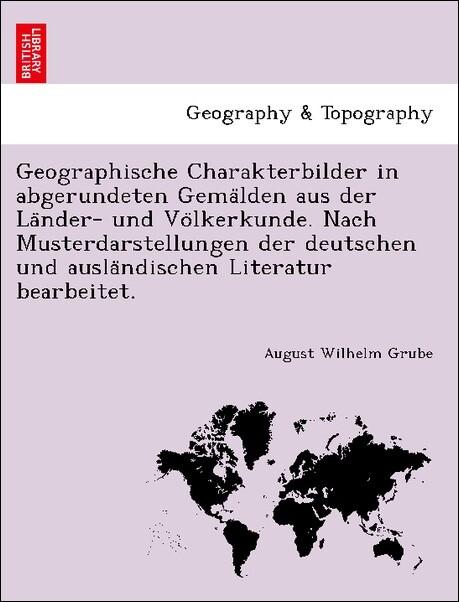 Geographische Charakterbilder in abgerundeten G...