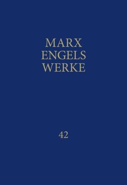 MEW / Marx-Engels-Werke Band 42 als Buch