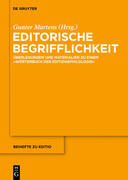 Editorische Begrifflichkeit