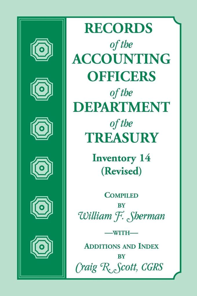 Records of the Accounting Officers of the Department of the Treasury als Taschenbuch