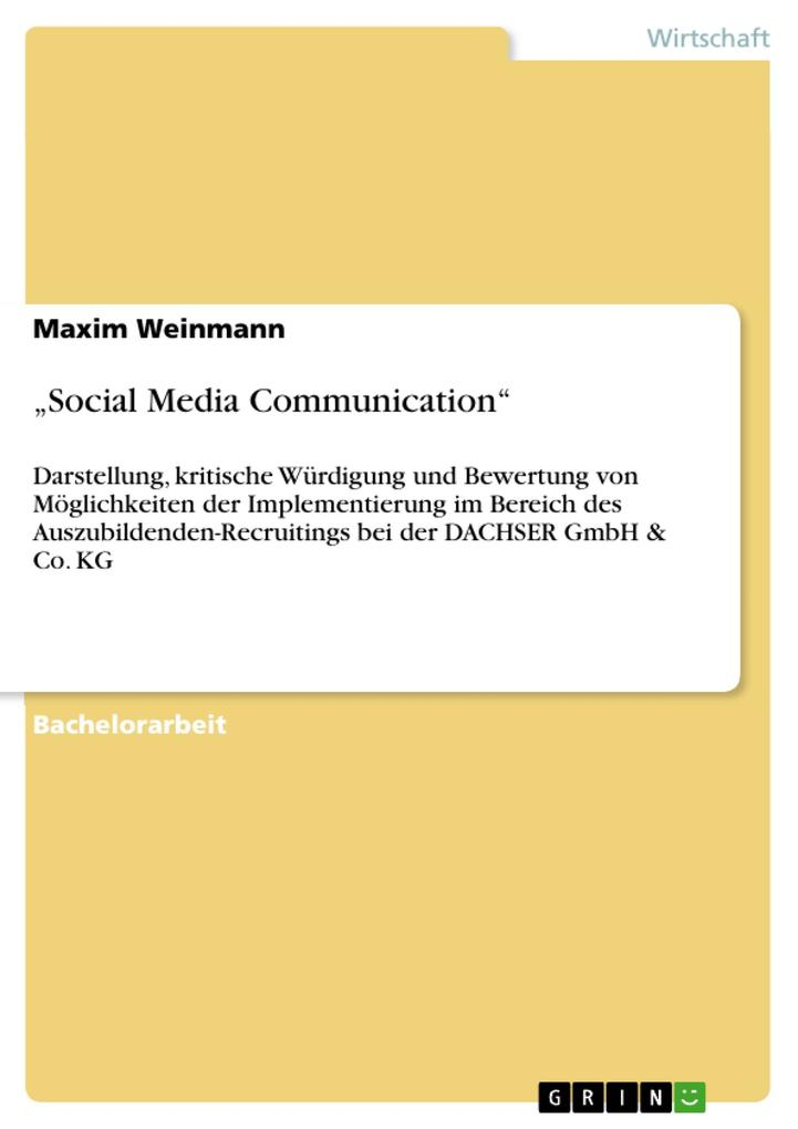 Social Media Communication als eBook Download v...