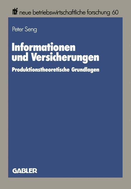 Informationen und Versicherungen als Buch von P...