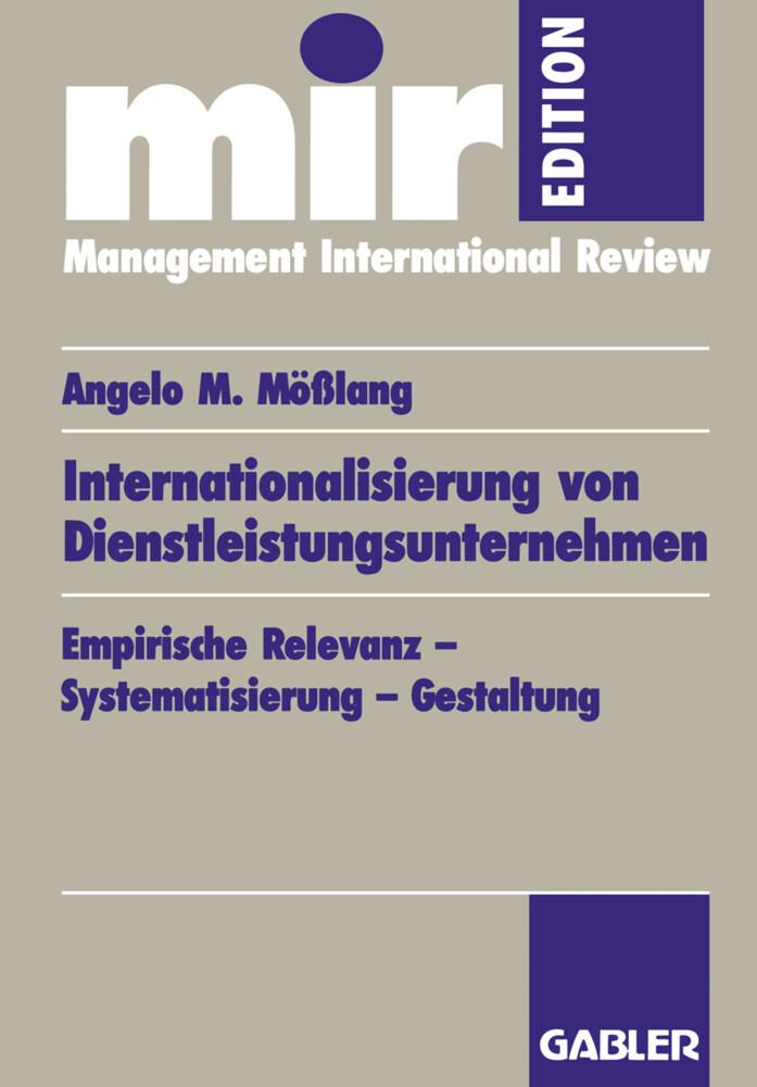 Internationalisierung von Dienstleistungsunternehmen als Buch (gebunden)