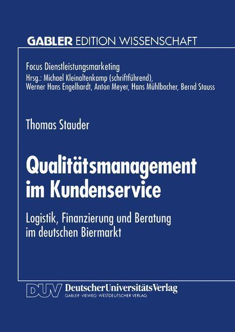 Qualitätsmanagement im Kundenservice als Buch v...
