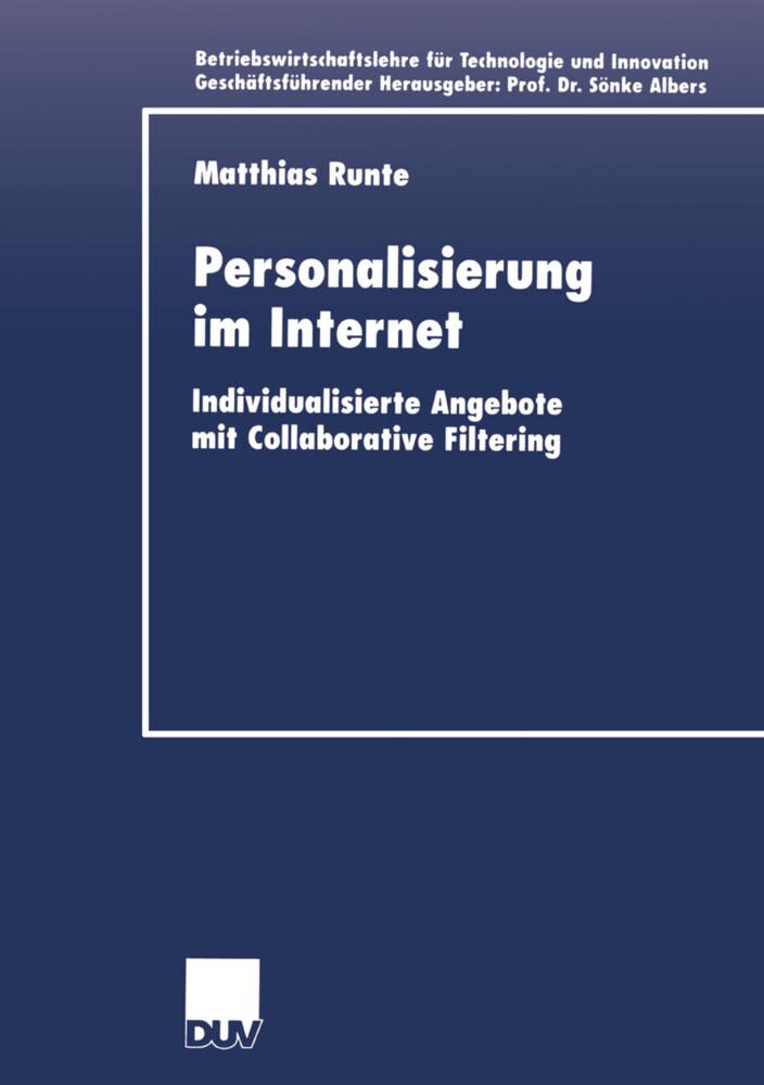 Personalisierung im Internet als Buch von Matth...
