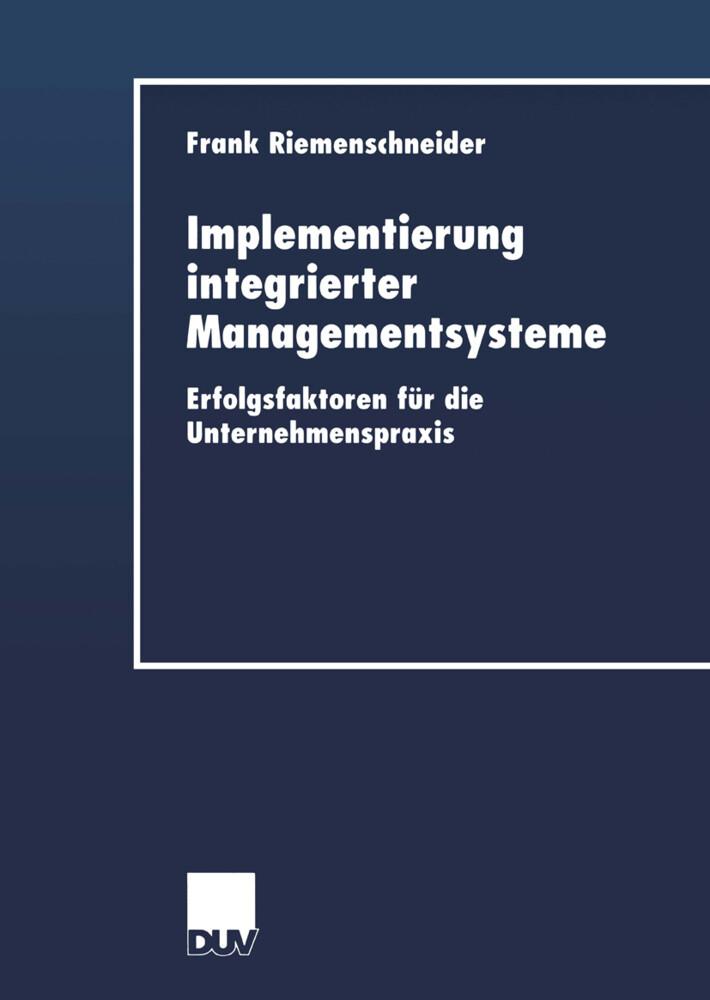 Implementierung integrierter Managementsysteme als Buch (gebunden)