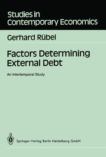 Factors Determining External Debt als Buch von ...