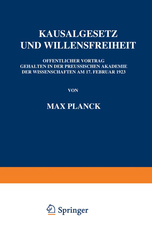 Kausalgesetz und Willensfreiheit als Buch (kartoniert)