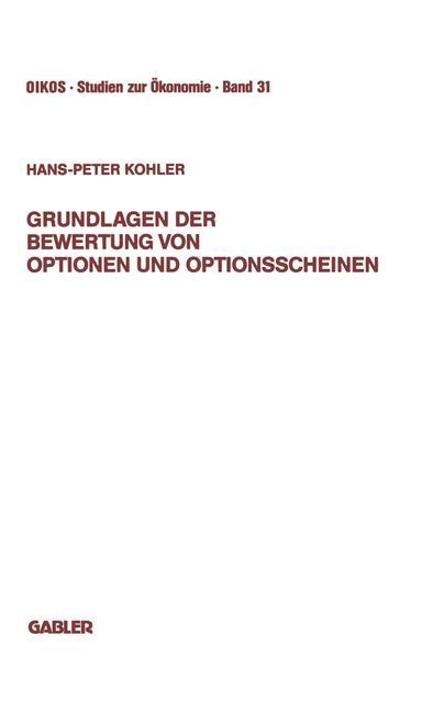 Grundlagen der Bewertung von Optionen und Optio...
