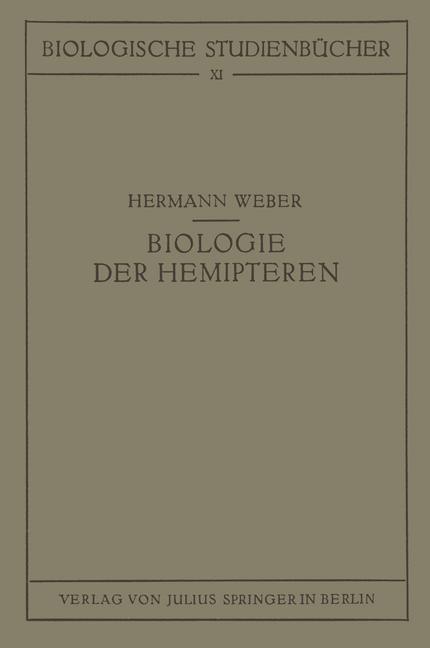 Biologie der Hemipteren als Buch von Hermann Weber