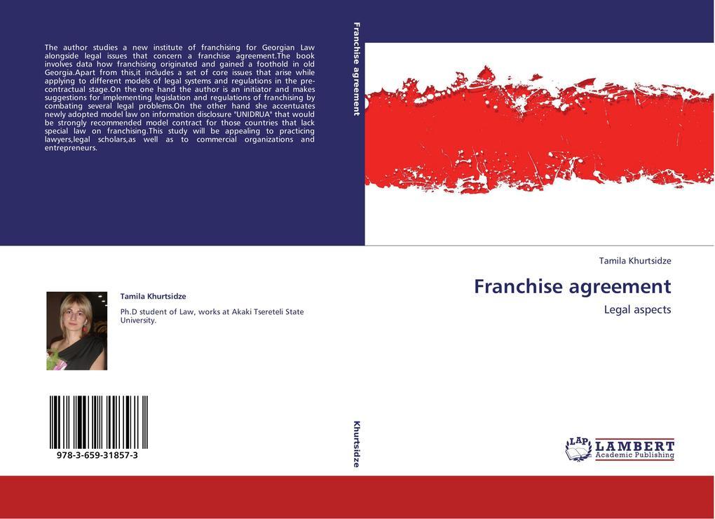 Franchise agreement als Buch von Tamila Khurtsidze