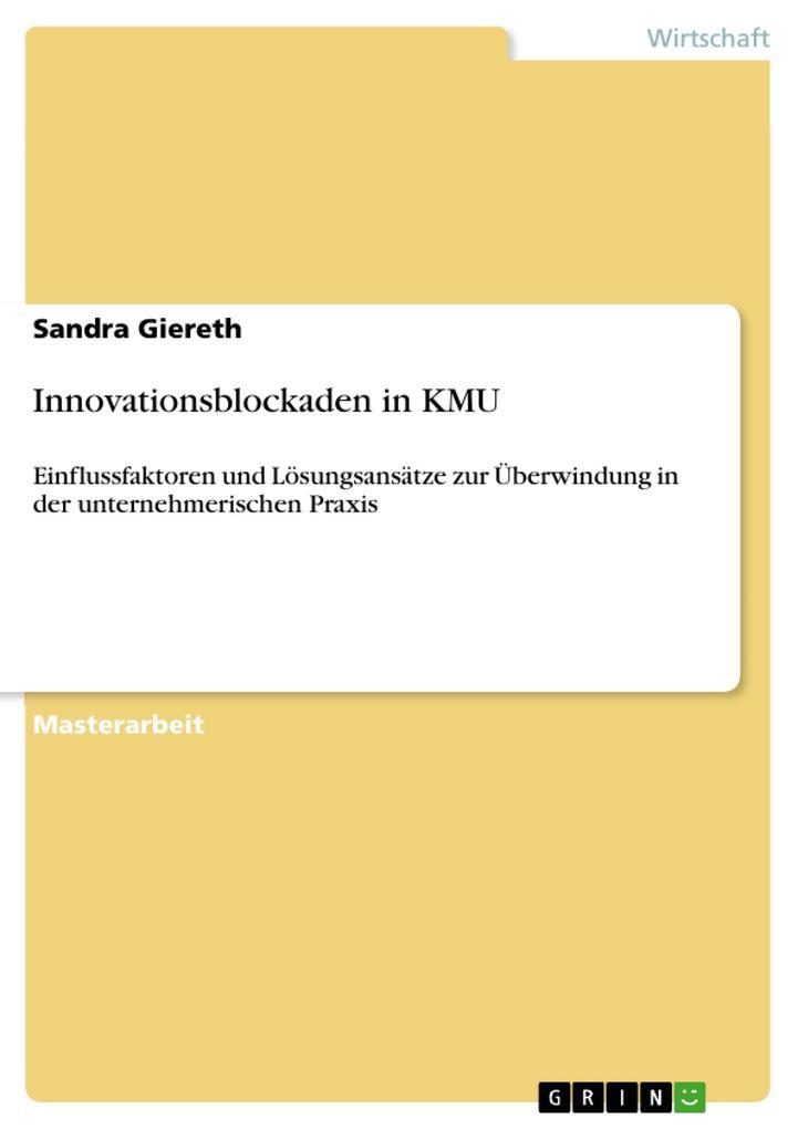 Innovationsblockaden in KMU als Buch von Sandra...