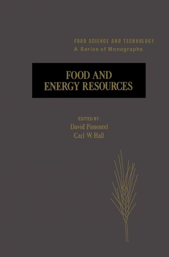 Food And Energy Resources als eBook Download von