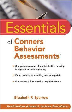 Essentials of Conners Behavior Assessments als ...