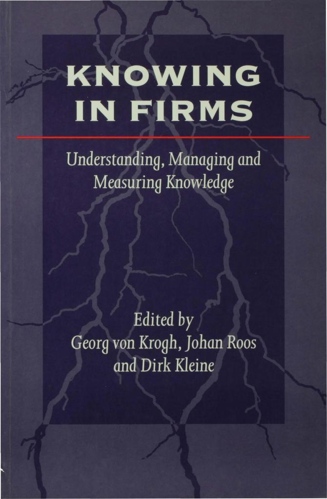 Knowing in Firms als eBook Download von