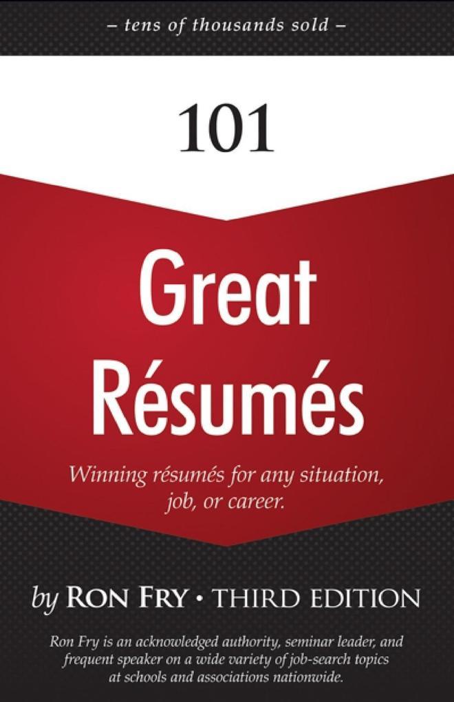 101 Great Résumés als eBook Download von Ron Fry