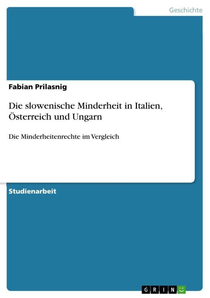 Die slowenische Minderheit in Italien, Österreich und Ungarn als eBook Download von Fabian Prilasnig - Fabian Prilasnig