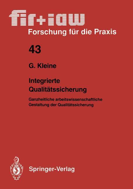 Integrierte Qualitätssicherung als Buch von Got...