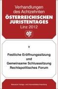 Österreichischer Juristentag (18.) / Festliche Eröffnungssitzung und Gemeinsame Schlusssitzung