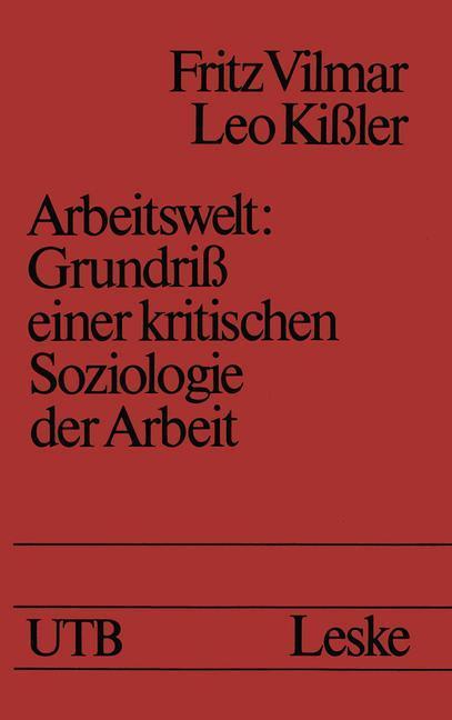 Arbeitswelt als Buch von Fritz Vilmar
