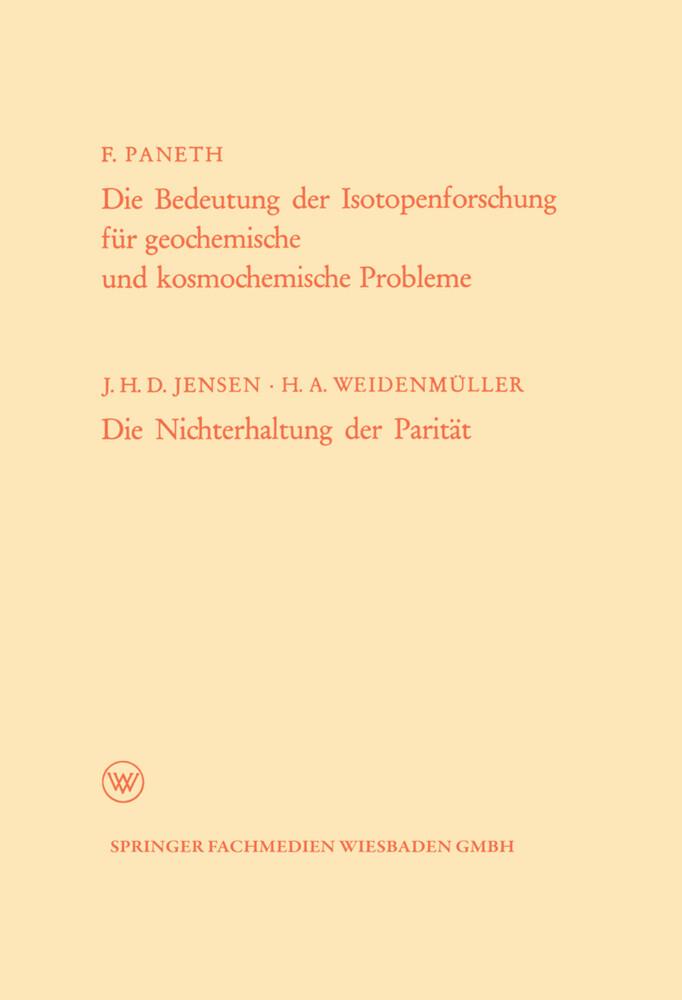 Die Bedeutung der Isotopenforschung für geochem...