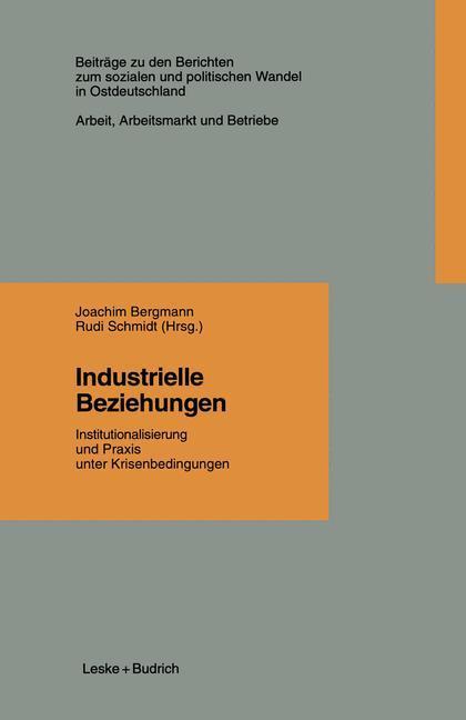 Industrielle Beziehungen als Buch (kartoniert)