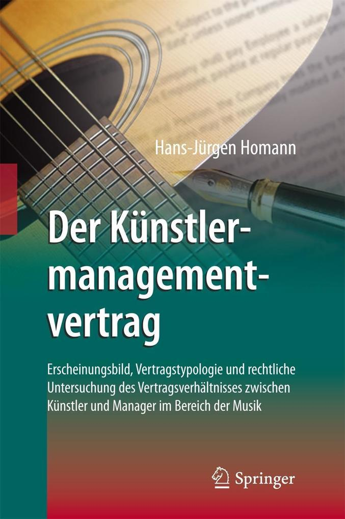 Der Künstlermanagementvertrag als eBook Downloa...