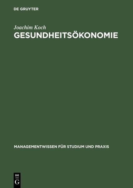 Gesundheitsökonomie als Buch