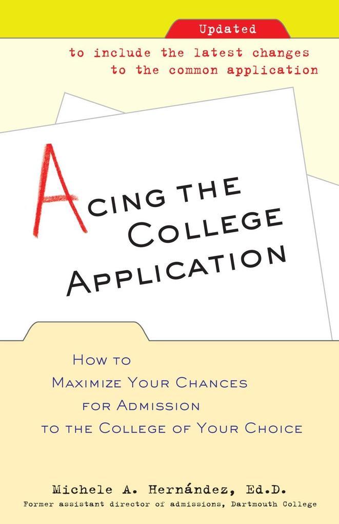 Acing the College Application als eBook Downloa...
