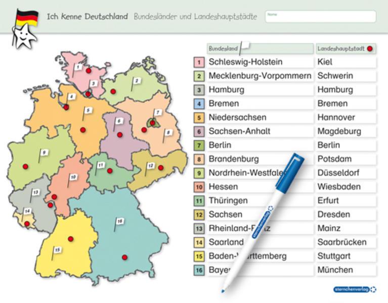 Bundesländer Und Landeshauptstädte Deutschland Eftelingkorting